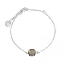 Bracelet with smoky quarz in silver